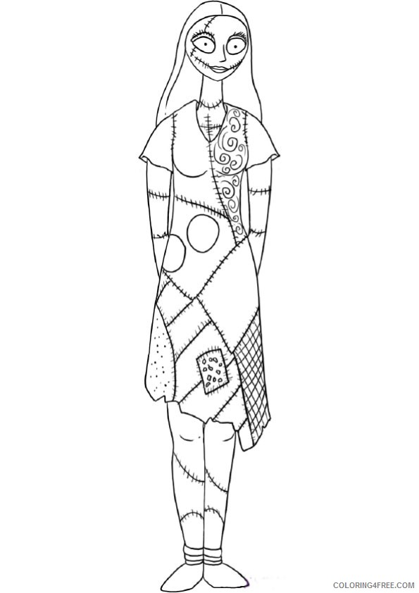 - Sally Nightmare Before Christmas Coloring Pages Coloring4free -  Coloring4Free.com