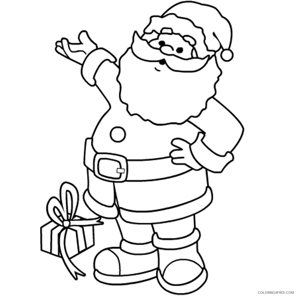 The Santa Claus Coloring Pages - Coloring Home | 943x943