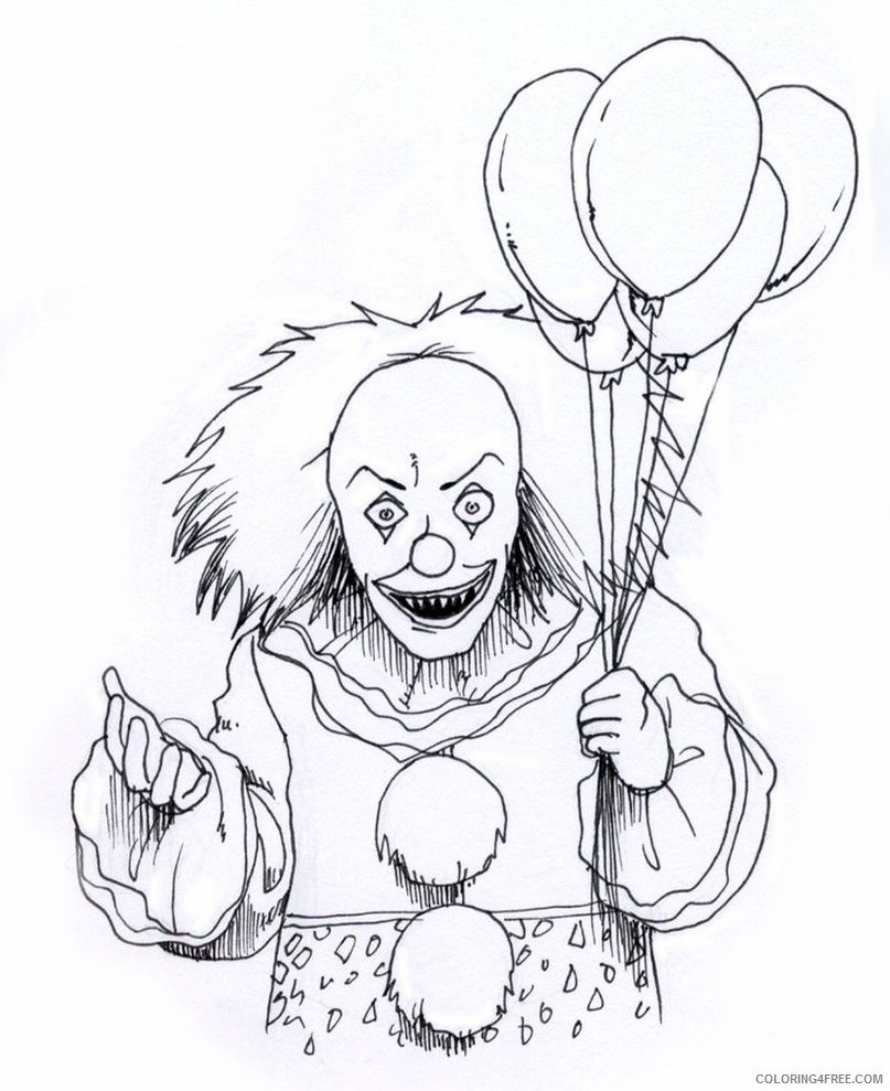 scary coloring pages spooky halloween Coloring4free ... | 989x807