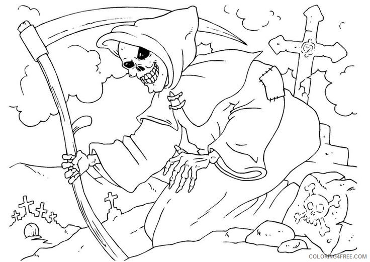 scary coloring pages for adults coloring4free coloring4free com scary coloring pages for adults