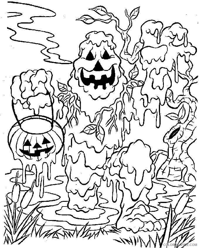 Scary Coloring Pages Halloween Monster Coloring4free Coloring4free Com
