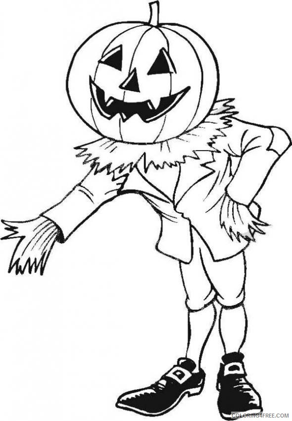 - Scary Coloring Pages Jack O Lantern Coloring4free - Coloring4Free.com