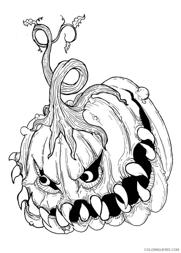 Coloring Pages Pumpkin Coloring4free