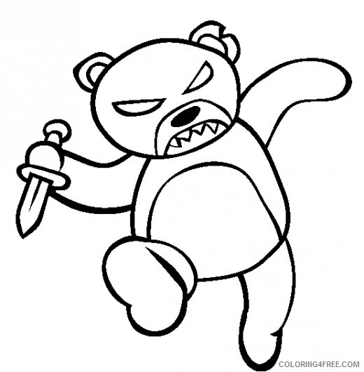 scary coloring pages teddy bear coloring4free coloring4free com scary coloring pages teddy bear