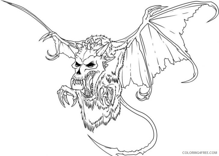 scary monster coloring pages coloring4free coloring4free com scary monster coloring pages