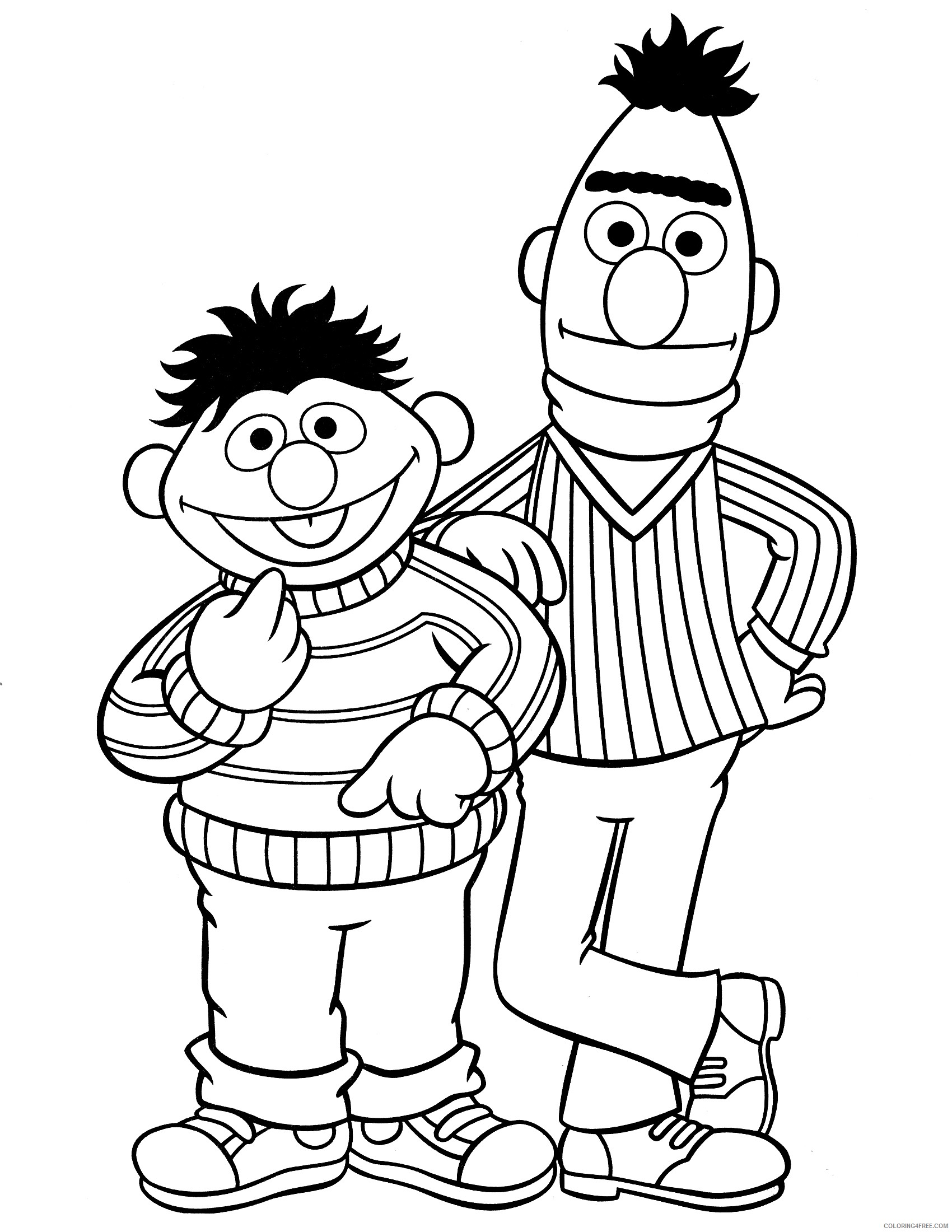 Sesame Street Valentine Coloring Pages | Valentine coloring pages ... | 2200x1700