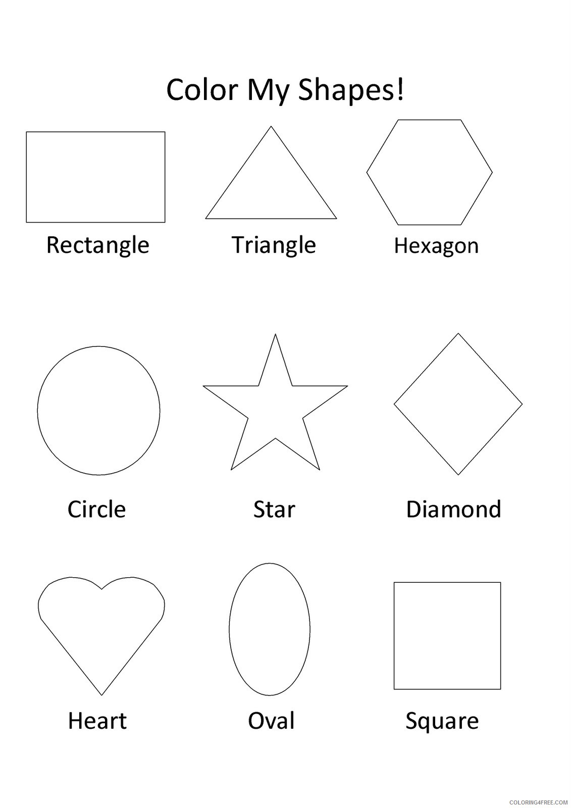 Free Basic Shapes Coloring Pages, Download Free Clip Art, Free ... | 1600x1131