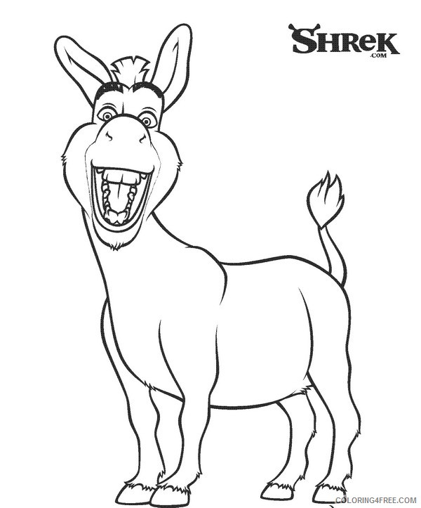 Shrek Coloring Pages Donkey Coloring4free Coloring4free Com