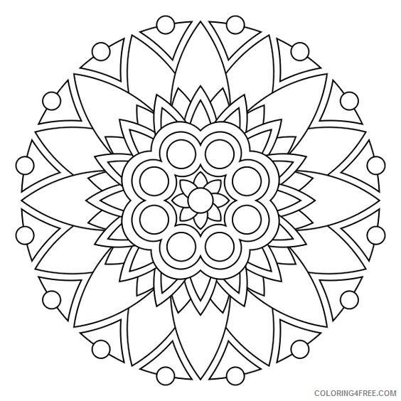 Flower Mandala Coloring Pages in 2020 | Easy mandala drawing ... | 564x564