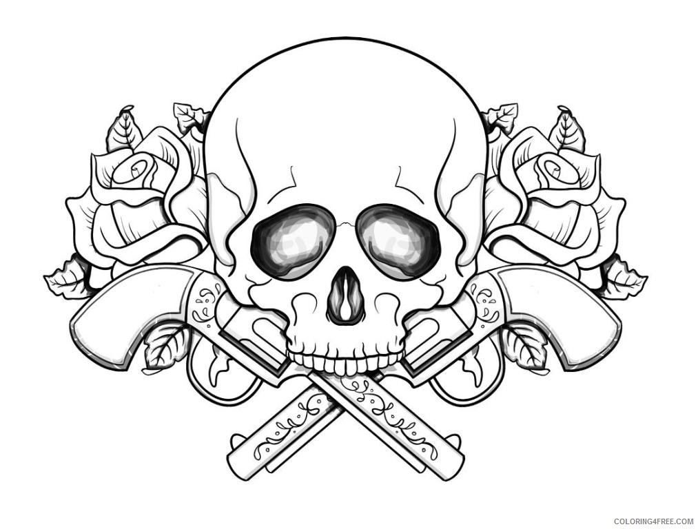 - Free Skull Coloring Pages To Print Coloring4free - Coloring4Free.com