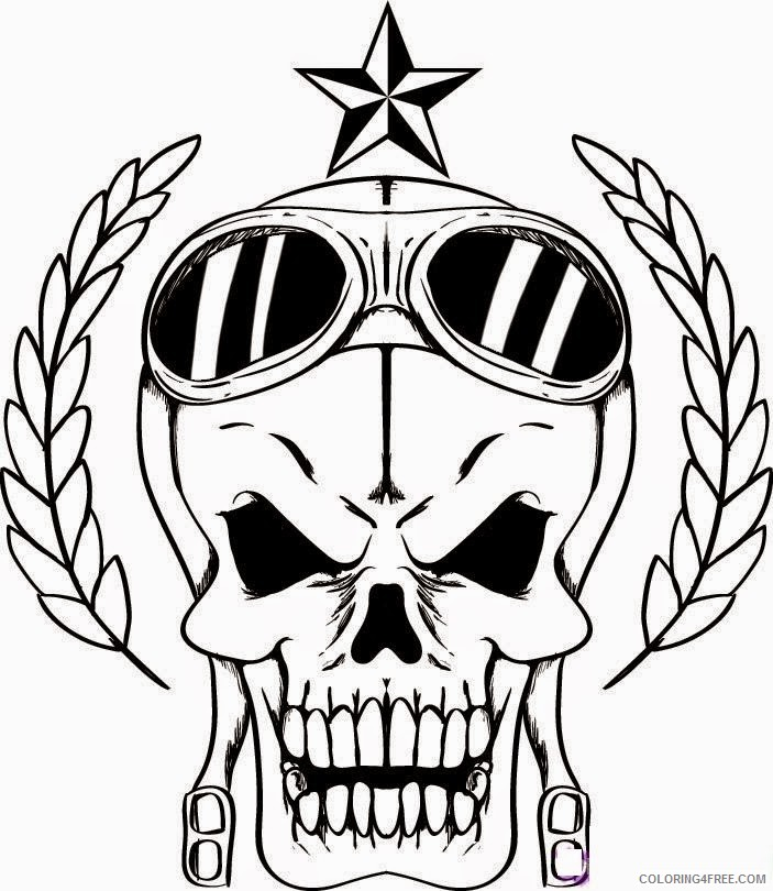 - Skull Coloring Pages To Print Coloring4free - Coloring4Free.com