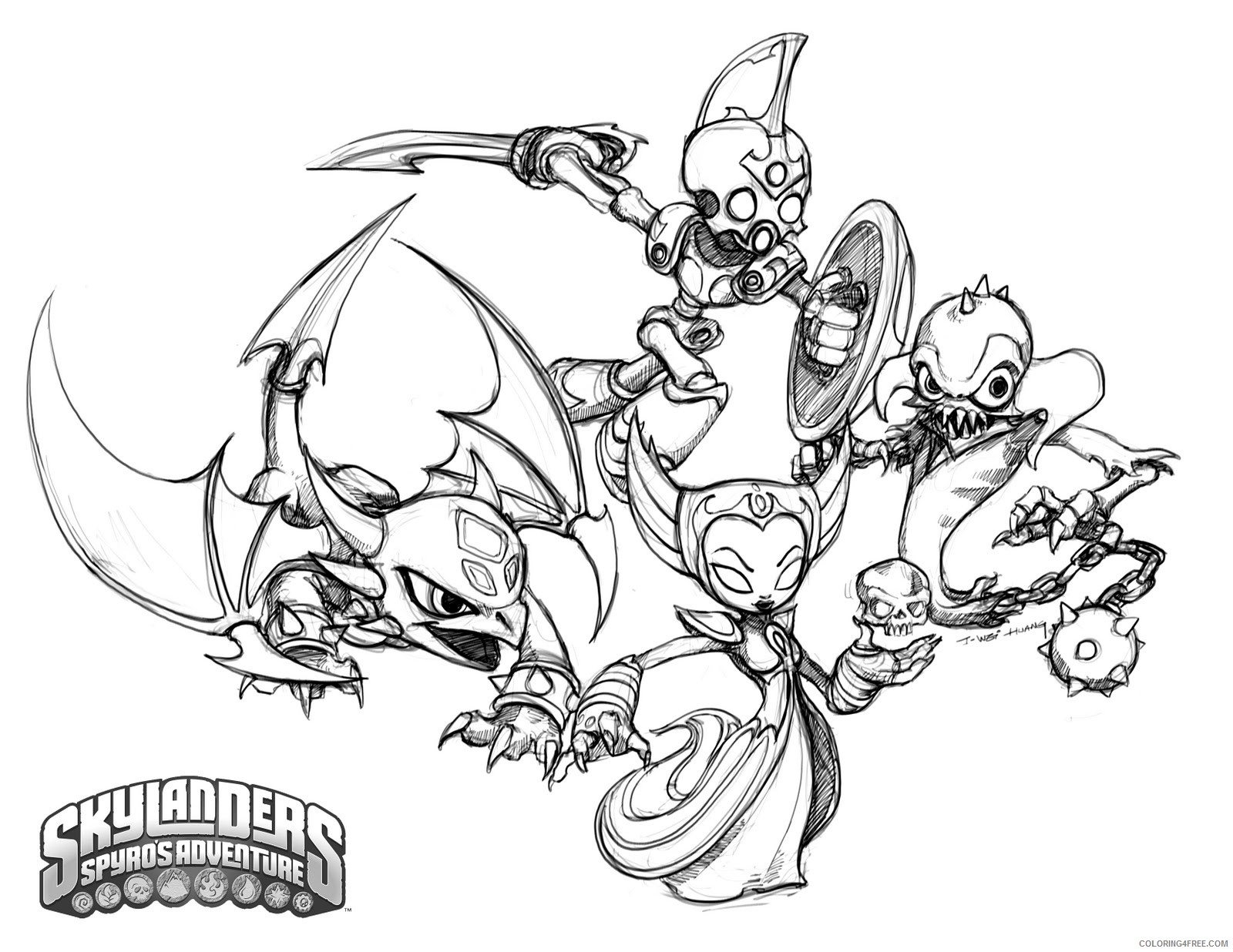 Skylanders: Free coloring pages, games and activities for kids | 1236x1600