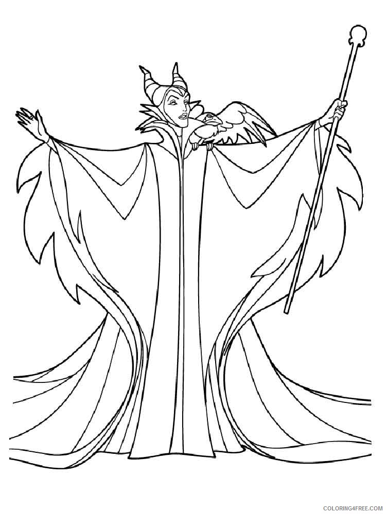 View Dragon Maleficent Coloring Page