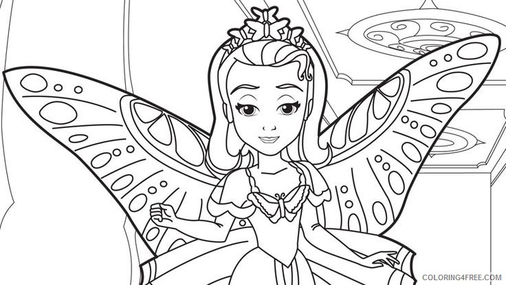 - Sofia The First Coloring Pages Princess Sofia Angel Costume Coloring4free -  Coloring4Free.com