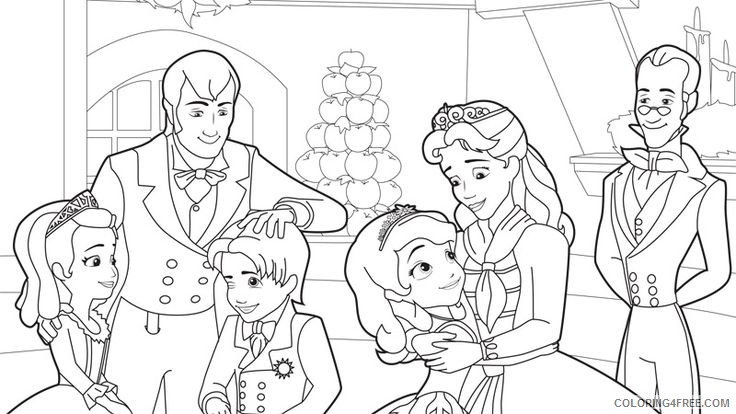 - Sofia The First Coloring Pages Sofia And Family Coloring4free -  Coloring4Free.com