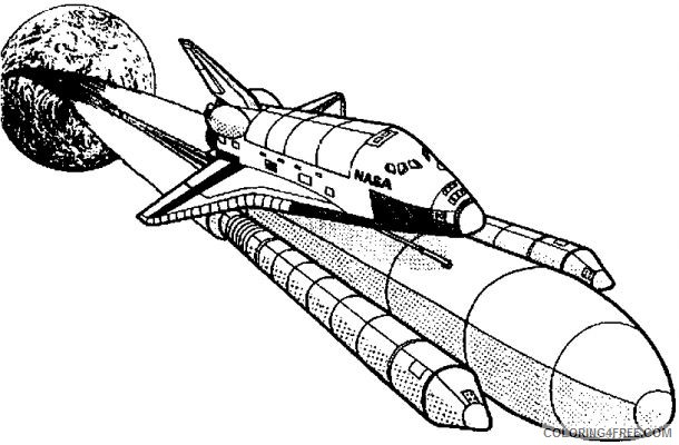 Space Coloring Pages Nasa Space Shuttle Launch Coloring4free Coloring4free Com