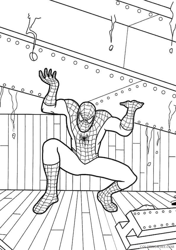 Spiderman Coloring Pages Strength Coloring4free Coloring4free Com