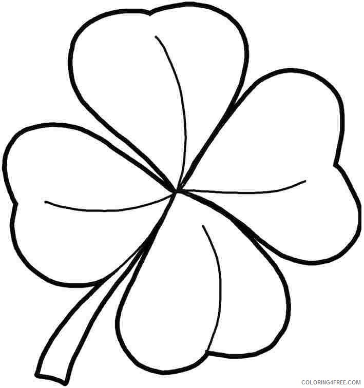St Patricks Day Coloring Pages Shamrock Coloring4free Coloring4free Com