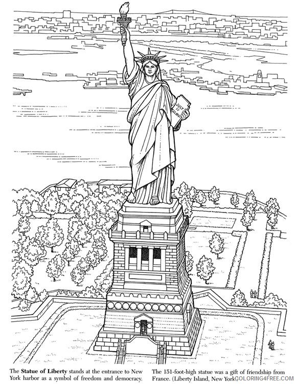 Statue Of Liberty Coloring Pages For Adults Coloring4free -  Coloring4Free.com