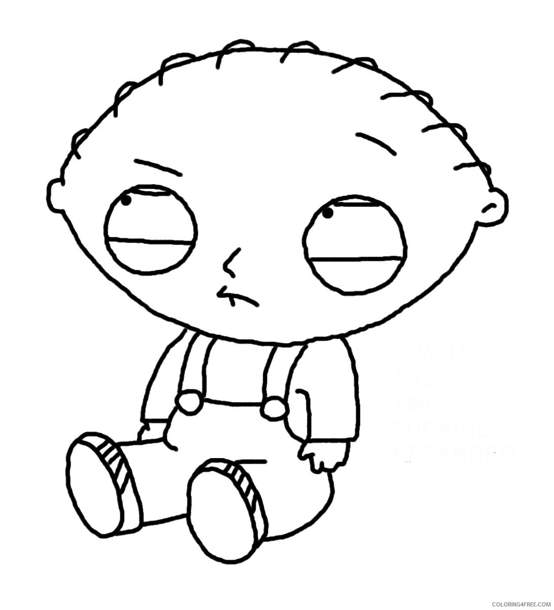 Stewie Griffin Family Guy Coloring Pages Coloring4free Coloring4free Com