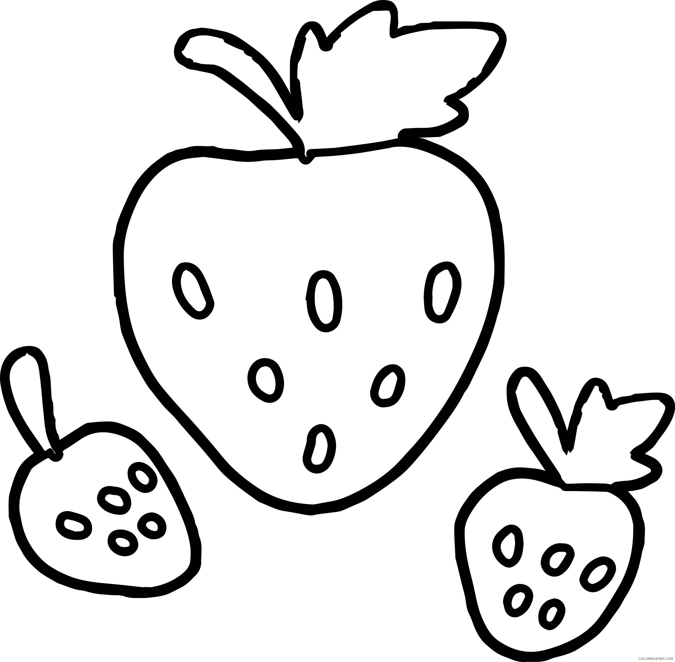Strawberry Coloring Pages For Preschool Coloring4free Coloring4free Com