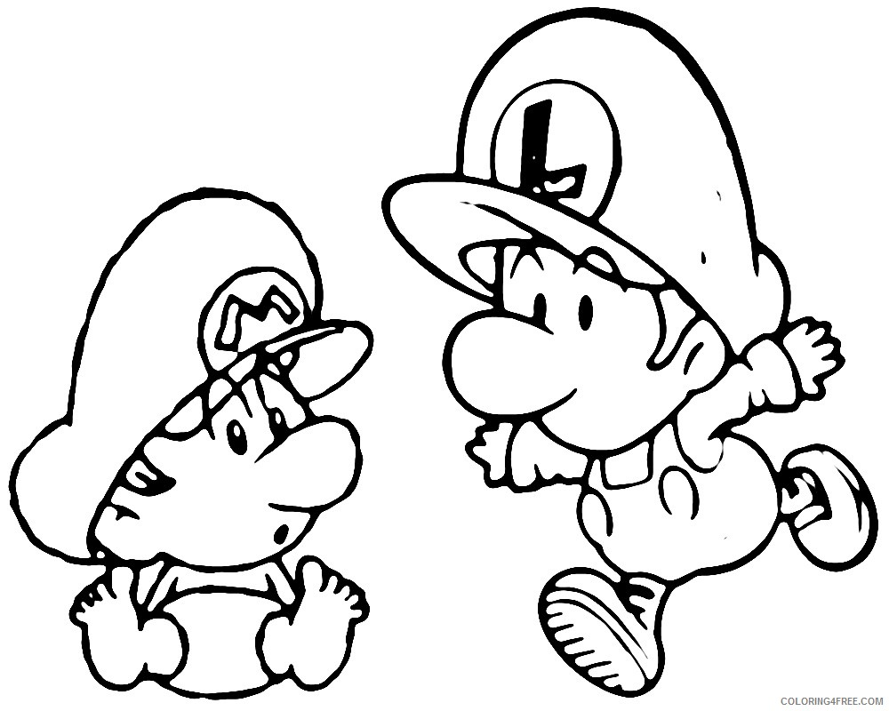 coloring : Mario Bros Coloring Pages Mario Brothers Colouring ... | 800x1000