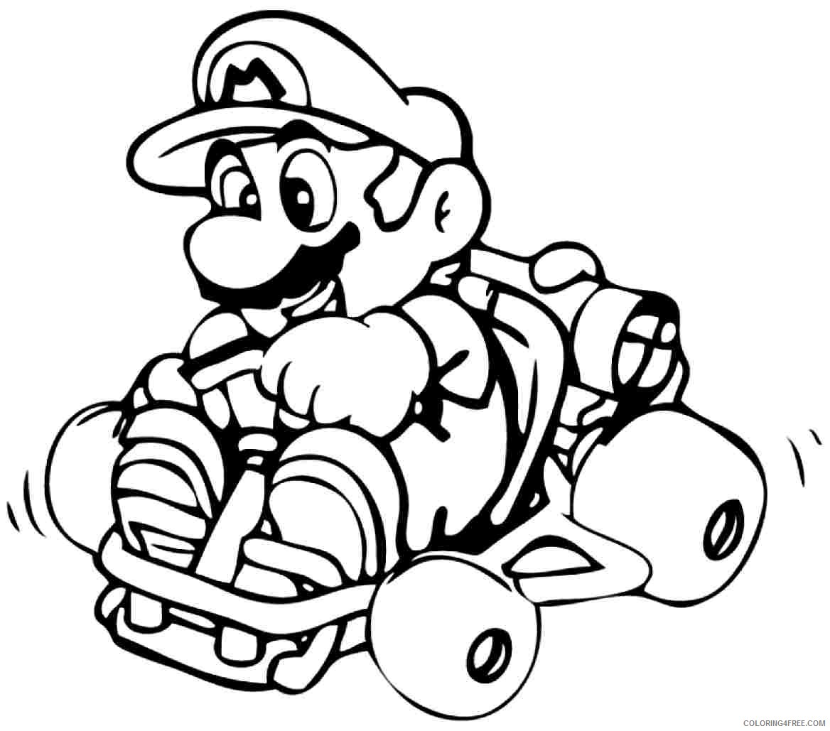 Super Mario Bros Coloring Pages To Print Coloring4free Coloring4free Com