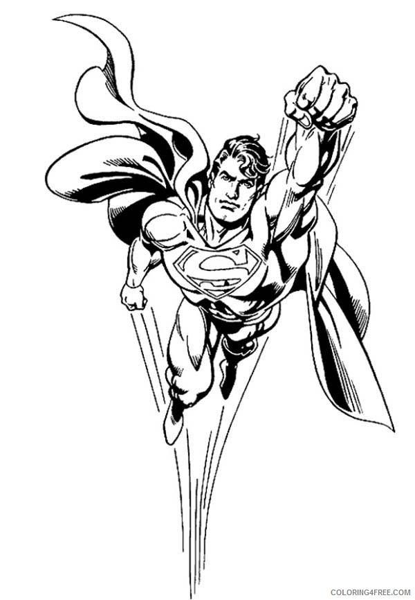 Top 30 Free Printable Superman Coloring Pages Online | 866x600