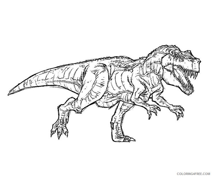 - T Rex Coloring Pages Tyrannosaurus Coloring4free - Coloring4Free.com