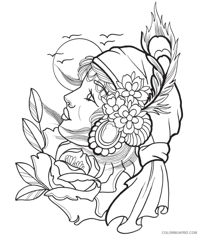 Tattoo Coloring Pages Printable Coloring4free - Coloring4Free.com