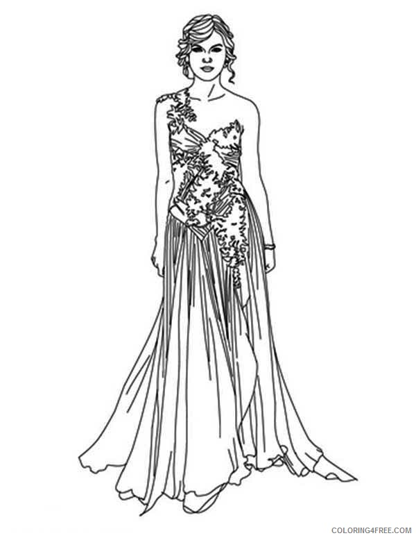 Taylor Swift Coloring Pages Fashion Style Coloring4free Coloring4free Com