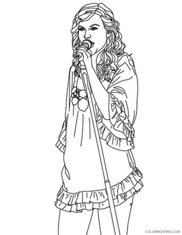 - Taylor Swift Coloring Pages Singer Coloring4free - Coloring4Free.com
