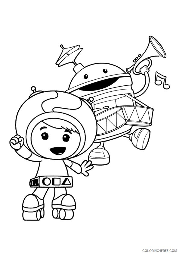 Team Umizoomi Coloring Pages Playing Music Coloring4free Coloring4free Com