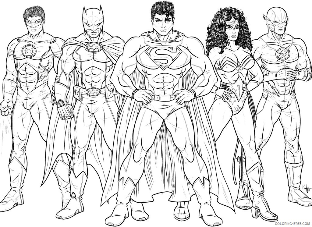 The Flash Coloring Pages Justice League Coloring4free Coloring4free Com