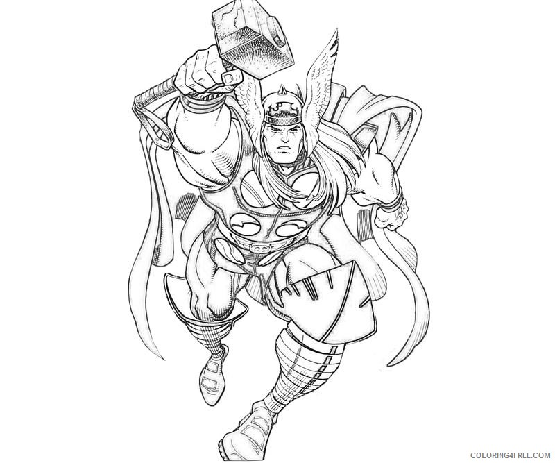 Download Printable Thor Hammer Coloring Page