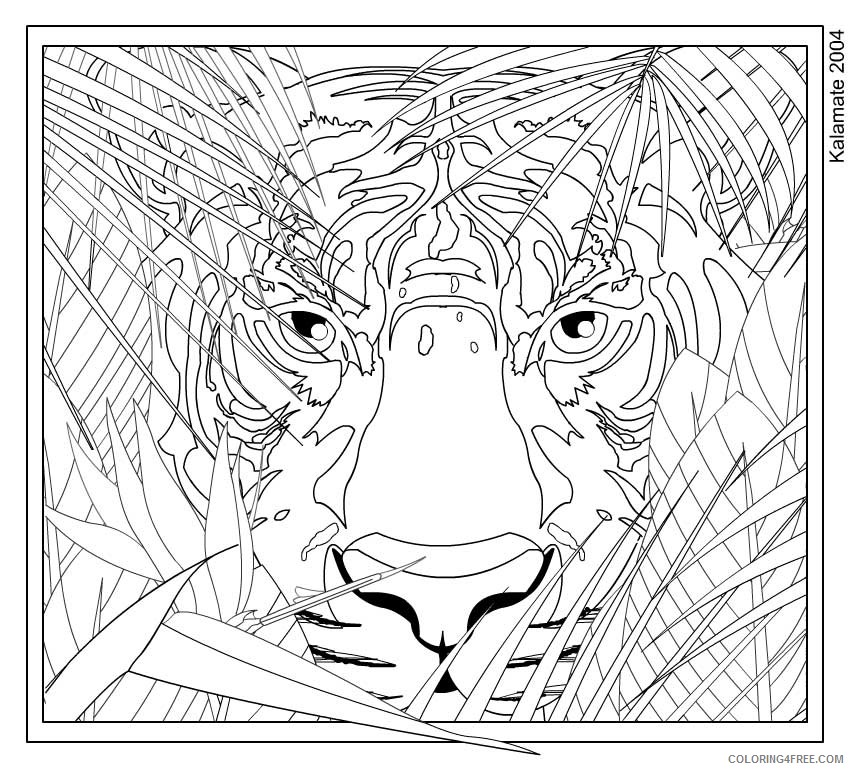 Tiger Coloring Pages For Teens Boy Coloring4free Coloring4free Com