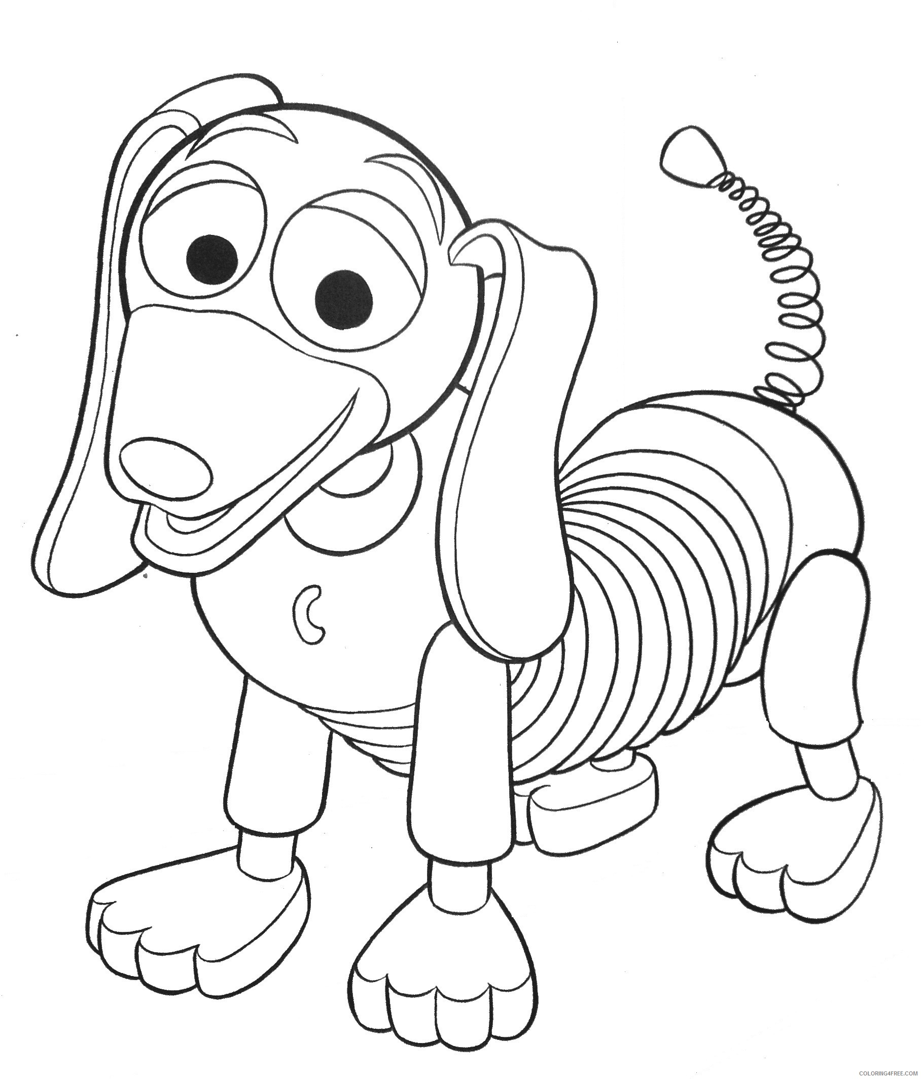toy story coloring pages slinky dog Coloring18free   Coloring18Free.com