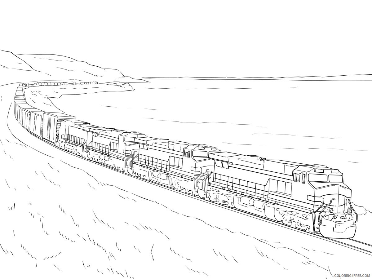 steam train coloring pages printable Coloring10free   Coloring10Free.com
