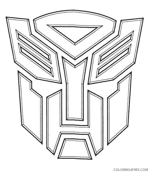 - Transformer Coloring Pages Autobots Logo Coloring4free - Coloring4Free.com