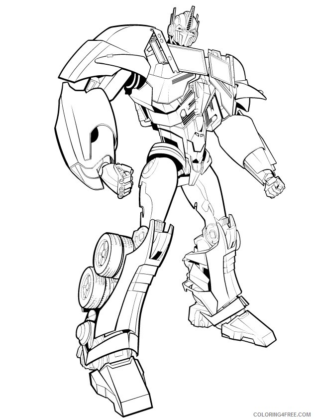 - Transformer Coloring Pages Optimus Prime To Print Coloring4free -  Coloring4Free.com