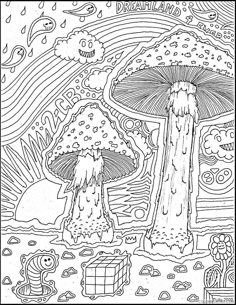 Trippy Coloring Pages Free To Print Coloring4free - Coloring4Free.com