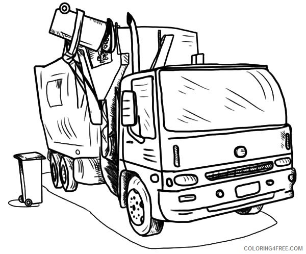 - Truck Coloring Pages Garbage Truck Coloring4free - Coloring4Free.com