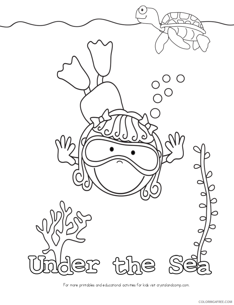 Free Under The Sea Coloring Sheets, Download Free Clip Art, Free ...   1048x806