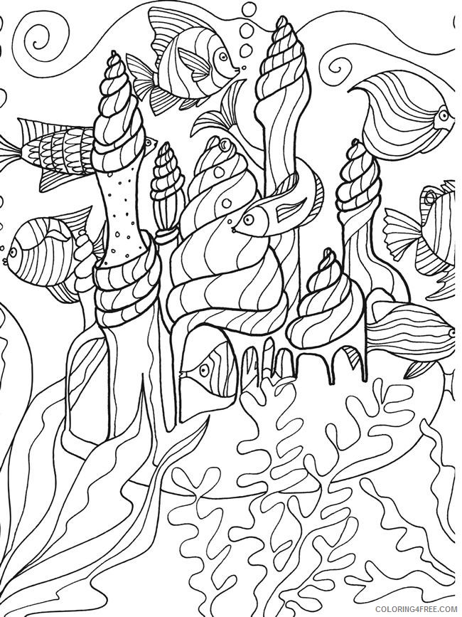Under The Sea Coloring Pages Ocean Life Coloring4free Coloring4free Com