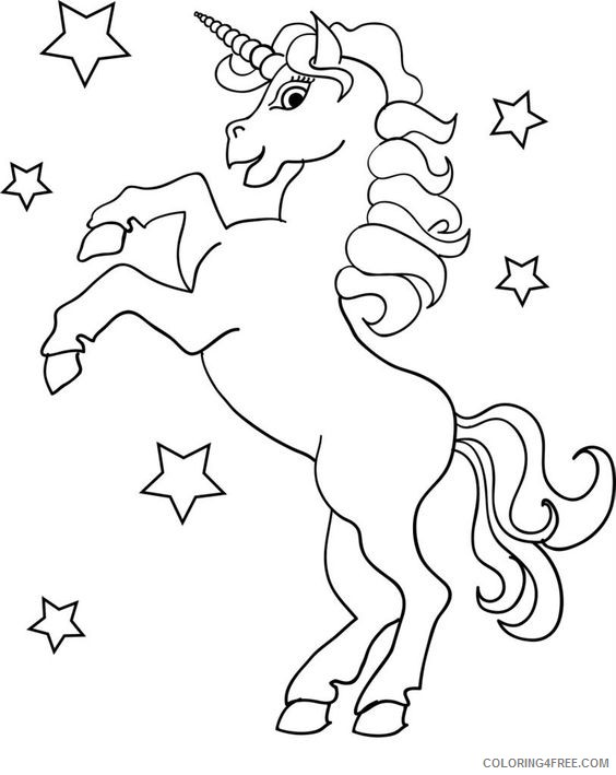 It is a graphic of Printable Unicorn Coloring Pages regarding unicorn outline
