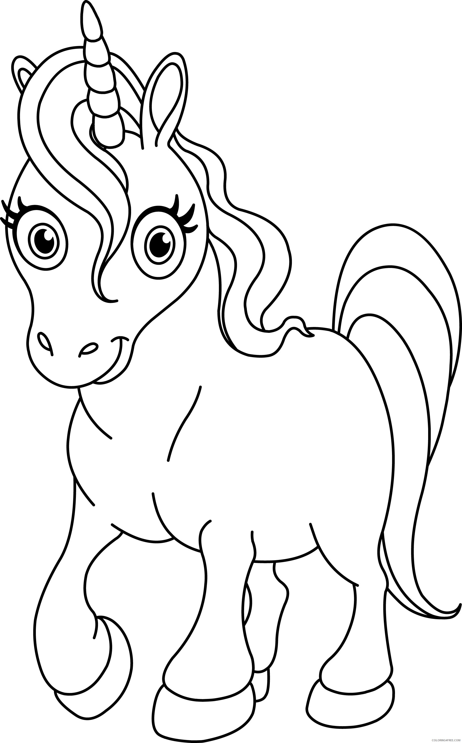 - Unicorn Coloring Pages For Kids Printable Coloring4free