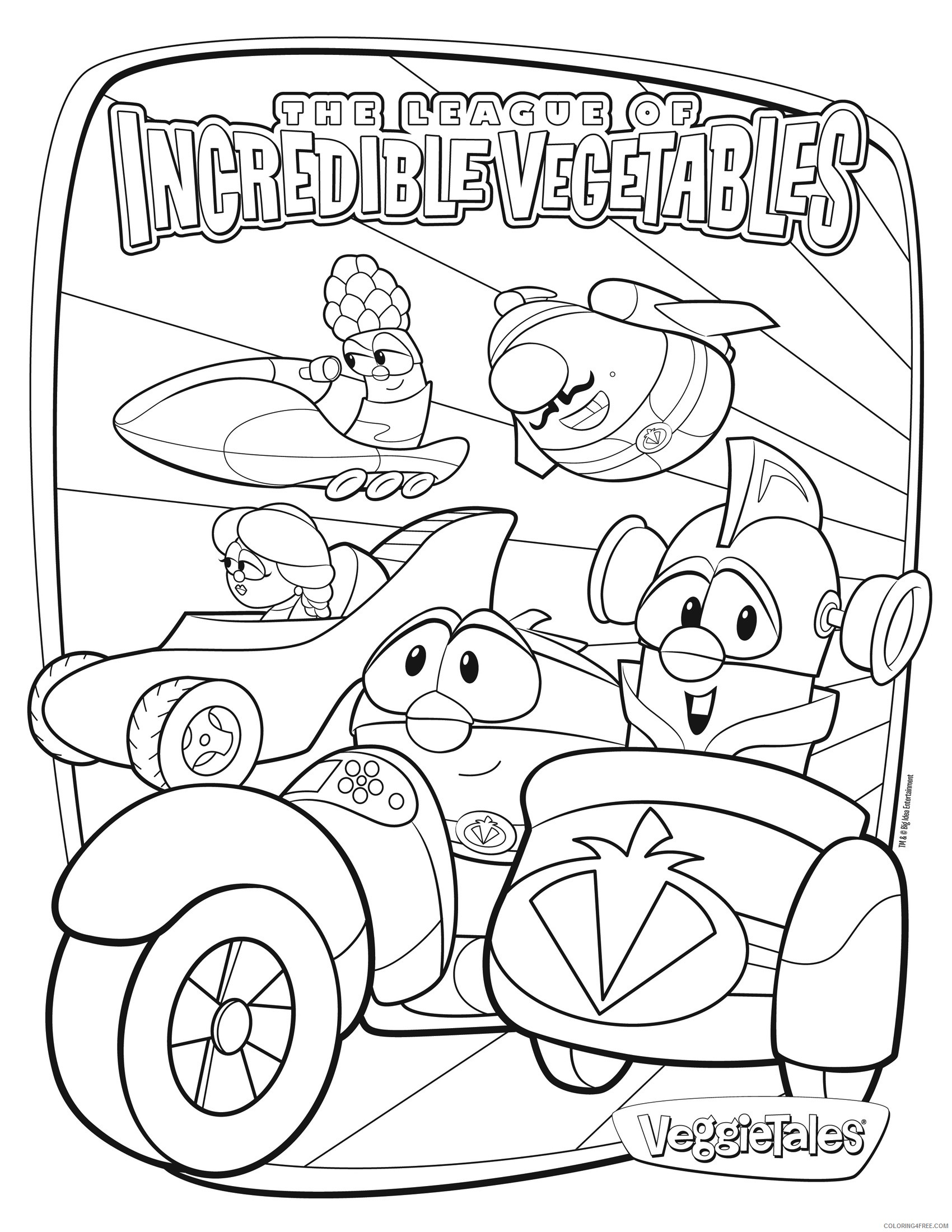 Veggie Tales Coloring Pages Incredible
