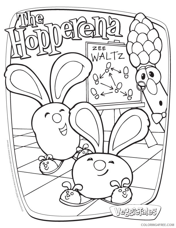 Veggie Tales Coloring Pages - Coloring Home | 792x612