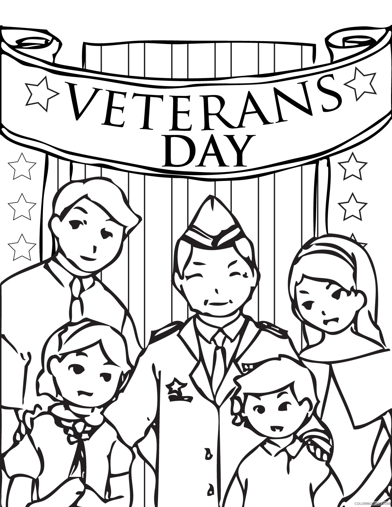 - Veterans Day Coloring Pages Family Coloring4free - Coloring4Free.com