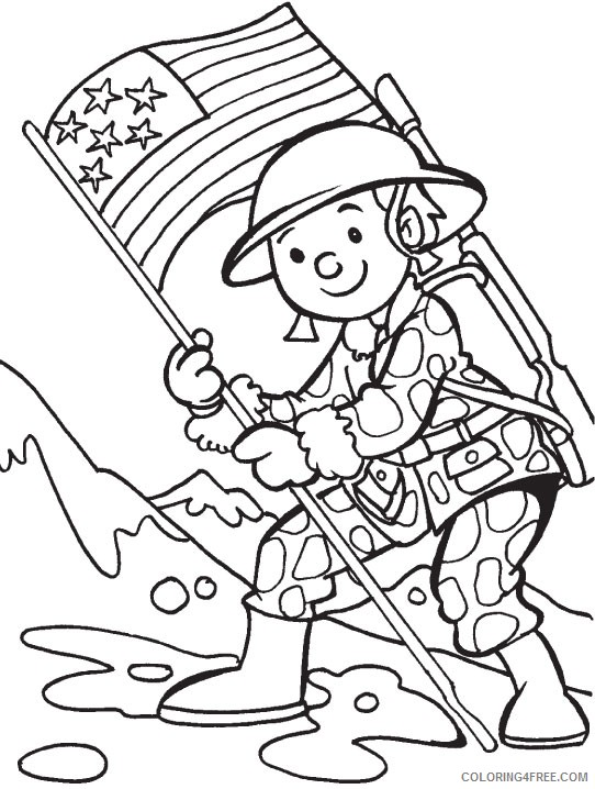- Veterans Day Coloring Pages Soldier Coloring4free - Coloring4Free.com